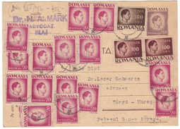 #6738 Romania, Business Postcard Postal Stationery 140 Lei King Mihai Mailed 1946 Inflation - Entiers Postaux