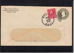 U.S.POSTAGE Entier 1c De BARRE Massachusetts Le 13 SEPT 1935  + 2c    Entete Pub