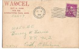 1966 QSL Card (Confirming QSO), WA0CEL, Riley Dunn, Minnesota To WA50GE Barney, Enid, Oklahoma, Radio Station