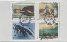 Frankreich 218 / Ausschnitt Mit 4 Gemäldemarken (Malarei) - Oblitérés