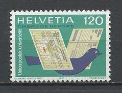 SUISSE 1983 Service N° 462 Neuf ** MNH  Superbes Cote 1.75 € Faune Oiseaux Pigeons Voyageurs UPU Union Postale Mand - Service