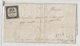 Taxe N°1 (10c Litho) - Obl Boîte Rurale J Répétée à Côté - Sur Lettre De Petit Pontoise - Signée Calves - Taxes