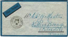 1938-enveloppe Par Avion,Rare Cad  De Saigon-Messageries-Mmes -   Très Bel Affr. Au Dos - Indochine (1889-1945)