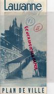 SUISSE - LAUSANNE - OUCHY- 1939- LAC LEMAN- DEPLIANT TOURISTIQUE - Dépliants Touristiques