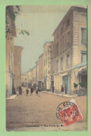 CARPENTRAS : Rue Porte De Mazan. Carte Toilée. 2  Scans. Edition Noble - Carpentras