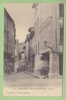 CARPENTRAS : Rue  De La Porte D'Orange, Intérieur. Dos Simple. 2  Scans. Edition Pinet - Carpentras