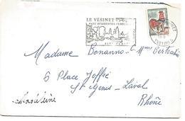 FLAMME DE LE VESINET YVELINES 1967 - Oblitérations Mécaniques (flammes)