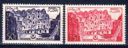 1956, Medenin Ghorfas à 4 Etages, YT 417 + 418, Neuf **, Lot 46985 - Tunisia