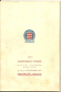 MONACO . 6EM CHAMP EUROPE NATATION . 1947 - Sonstige