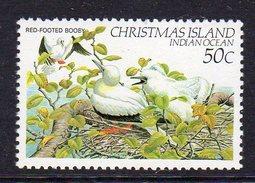 CHRISTMAS ISLAND - 1982 50c RED-FOOTED BOOBY BIRD FINE MNH ** SG161 - Birds