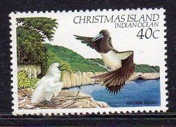 CHRISTMAS ISLAND - 1982 40c BROWN BOOBY BIRD FINE MNH ** SG160 - Birds