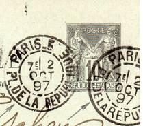 DAGUIN JUMELEE VARIETE PARIS Et  PARIS 5 PL. DE LA REPUBLIQUE Du 2 OCT 97  SUPERBE - Annullamenti Meccanici (pubblicitari)
