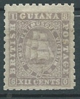 Guyane Anglaise  -  Yvert N° 18 *  ( Dent 12 1/2 )  2 Dents  Rognée  Peu Courant En Neuf  - Cw 16308 - Guyane Britannique (...-1966)