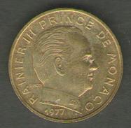 MONACO 10 CENTIMES 1977 - Monaco