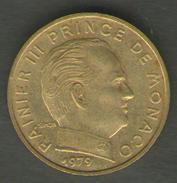 MONACO 10 CENTIMES 1979 - Monaco