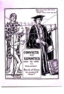 Women's Suffrage And Lunacy Convicts - Modern Unused Card - People