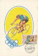 D28149 CARTE MAXIMUM CARD 1964 CZECHOSLOVAKIA - CYCLING RACING OLYMPICS TOKIO CP ORIGINAL - Cycling