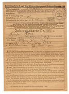 ALLEMAGNE WESTPHALIE CARTE DE QUITTANCE 1921 GERMANY QUITTUNGSKARTE WESTFALEN 1921 - 2 Scans - - Alte Papiere