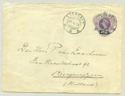 Nederlands Indië - 1913 - KB SOEMENEP Op Matig Postwaardestuk Naar Bergen Op Zoom / Nederland - Niederländisch-Indien