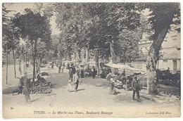 Cpa Tours - Le Marché Aux Fleurs, Boulevard Béranger     ((S.1828)) - Tours