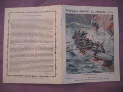 Protège Cahier Illustré Vers 1900 / Voyages Autour Du Monde - Secours Aux Naufragés - Transport