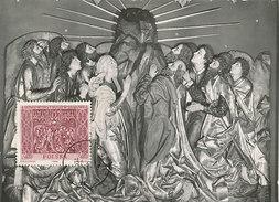 D28158 CARTE MAXIMUM CARD 1960 POLAND - FRAGMENT WIT STWOSZ ALTAR KRAKOW CP ORIGINAL - Sculpture