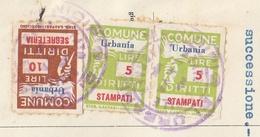 Urbania. 1959. Marche Municipali  Segreteria + Stampati, Su Documento. - Italie