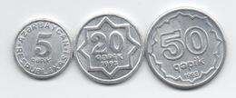 Azerbaïjan : Lot De 3 Pièces En Aluminium 1993