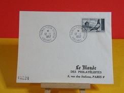 Marcophilie > Lettre > Oblitéré > 94 Vincennes > Salon Du Pigeon Voyageur - 1957 Le Monde Des Philatélistes - Marcofilie (Brieven)
