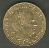 MONACO 20 CENTIMES 1978 - Monaco