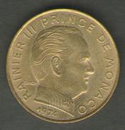 MONACO 20 CENTIMES 1974 - Monaco