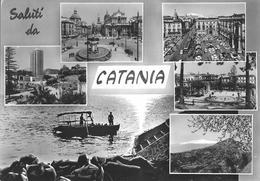 SALUTI DA CATANIA - VEDUTINE - F/G -  V: 1963 - Catania