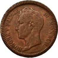 Monnaie, Monaco, Honore V, Decime, 1838, Monaco, TTB, Cuivre, KM:97.1 - Monaco