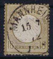 Deutsche Reich:  Mi Nr 11  1872  Gestempelt/used/obl Mannheim Has A Thin - Deutschland