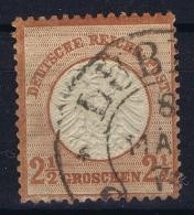 Deutsche Reich:  Mi Nr 21  1872  Gestempelt/used/obl  Hufeisen Stempel Lübeck - Germany