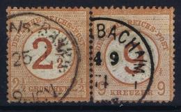 Deutsche Reich:  Mi Nr 29 + 30    Gestempelt/used/obl  1874 - Germany