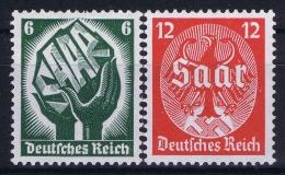 Deutsche Reich:  Mi Nr 544 - 545 MNH/**/postfrisch/neuf Sans Charniere 1934 Saar