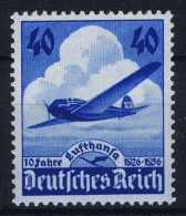 Deutsche Reich:  Mi Nr 603 MNH/**/postfrisch/neuf Sans Charniere 1936 Some Spots In Gum - Deutschland