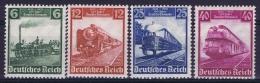 Deutsche Reich:  Mi Nr 580 - 583 MNH/**/postfrisch/neuf Sans Charniere 1935 Deutsche Eisenbahn - Ungebraucht