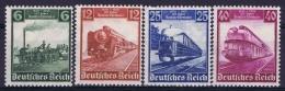 Deutsche Reich:  Mi Nr 580 - 583 MNH/**/postfrisch/neuf Sans Charniere 1935 Deutsche Eisenbahn