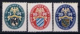 Deutsche Reich:  Mi Nr 375 - 377 MNH/**/postfrisch/neuf Sans Charniere 1925  Nothilfe - Nuovi