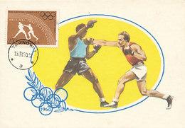 D28171 CARTE MAXIMUM CARD 1960 POLAND - BOXING OLYMPICS ROME CP ORIGINAL - Boxing