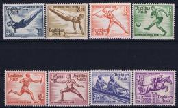 Deutsche Reich:  Mi Nr 609 - 616 MNH/**/postfrisch/neuf Sans Charniere 1936 Olympische Spiele - Deutschland