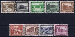 Deutsche Reich:  Mi Nr 634 - 642 MNH/**/postfrisch/neuf Sans Charniere 1936 Small Spot On Back 642
