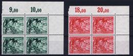 Deutsche Reich:  Mi Nr 684  - 685 MNH/**/postfrisch/neuf Sans Charniere 1938 Bogenecke