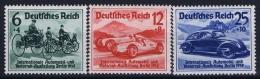 Deutsche Reich:  Mi Nr 686- 688 MNH/**/postfrisch/neuf Sans Charniere 1939 Automobil Ausstellung