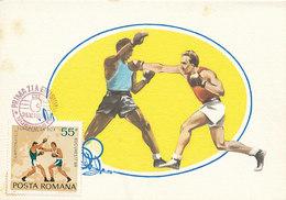 D28172 CARTE MAXIMUM CARD 1969 ROMANIA - BOXING CP ORIGINAL - Boxing