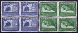 Deutsche Reich:  Mi Nr 669 - 670 MNH/**/postfrisch/neuf Sans Charniere 1938 In 4-Blocken - Luftpost