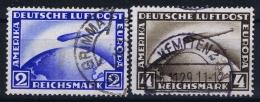 Deutsche Reich:  Mi Nr 423 -424  Gestempelt/used/obl. 1928 - Luftpost
