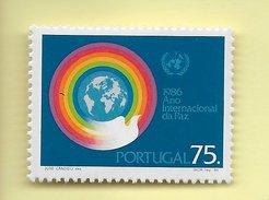 TIMBRES - STAMPS - PORTUGAL - 1986 - ANNÉE INTERNATIONALE DE LA PAIX - SÉRIE TIMBRE NEUF - MHN - 1910-... Republic